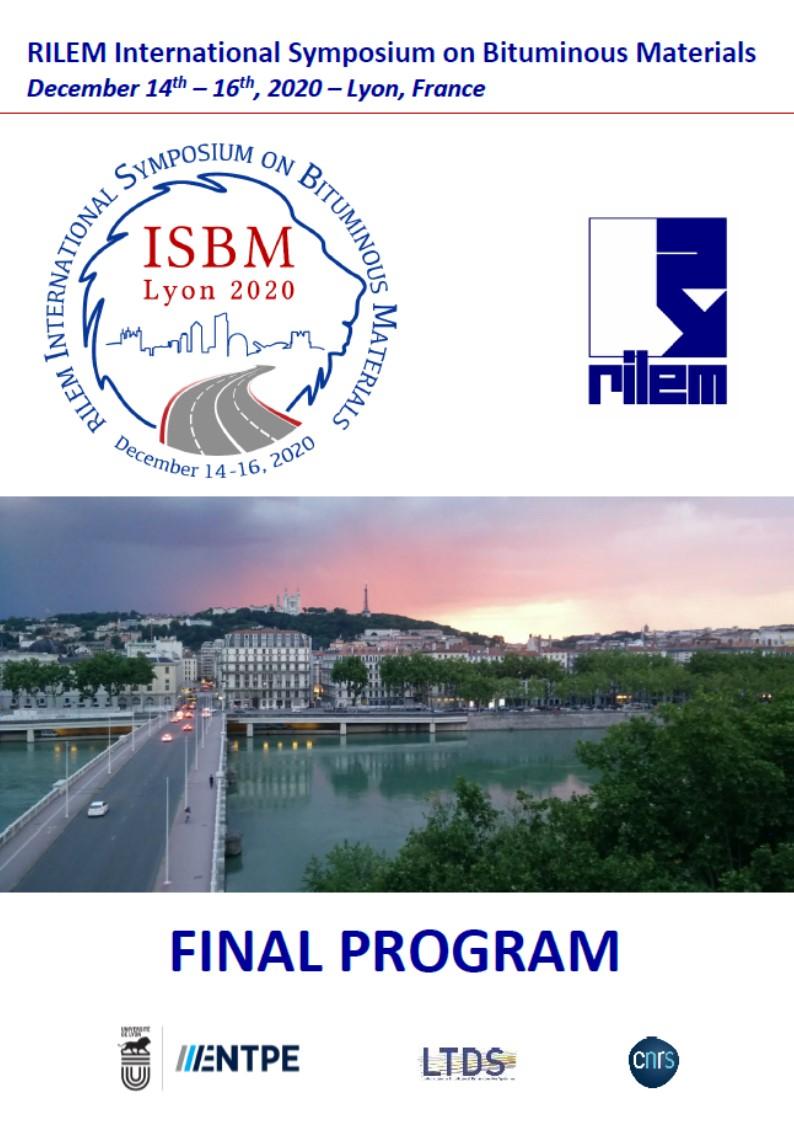 RILEM ISBM Lyon 2020 Full program